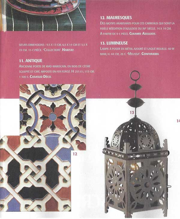 maison et travaux n 201 juin 2007 ceramis azulejos. Black Bedroom Furniture Sets. Home Design Ideas